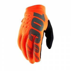 100% Brisker Youth Gloves SS19 Fluo Orange/Black