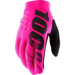100% Women's Brisker Gloves SS19 Neon Pink/Black