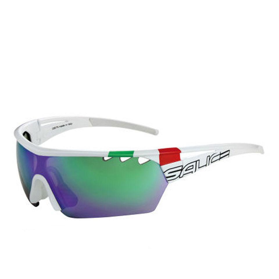 Salice 006 Italian Edition RW Mirror Sunglasses - White/Green