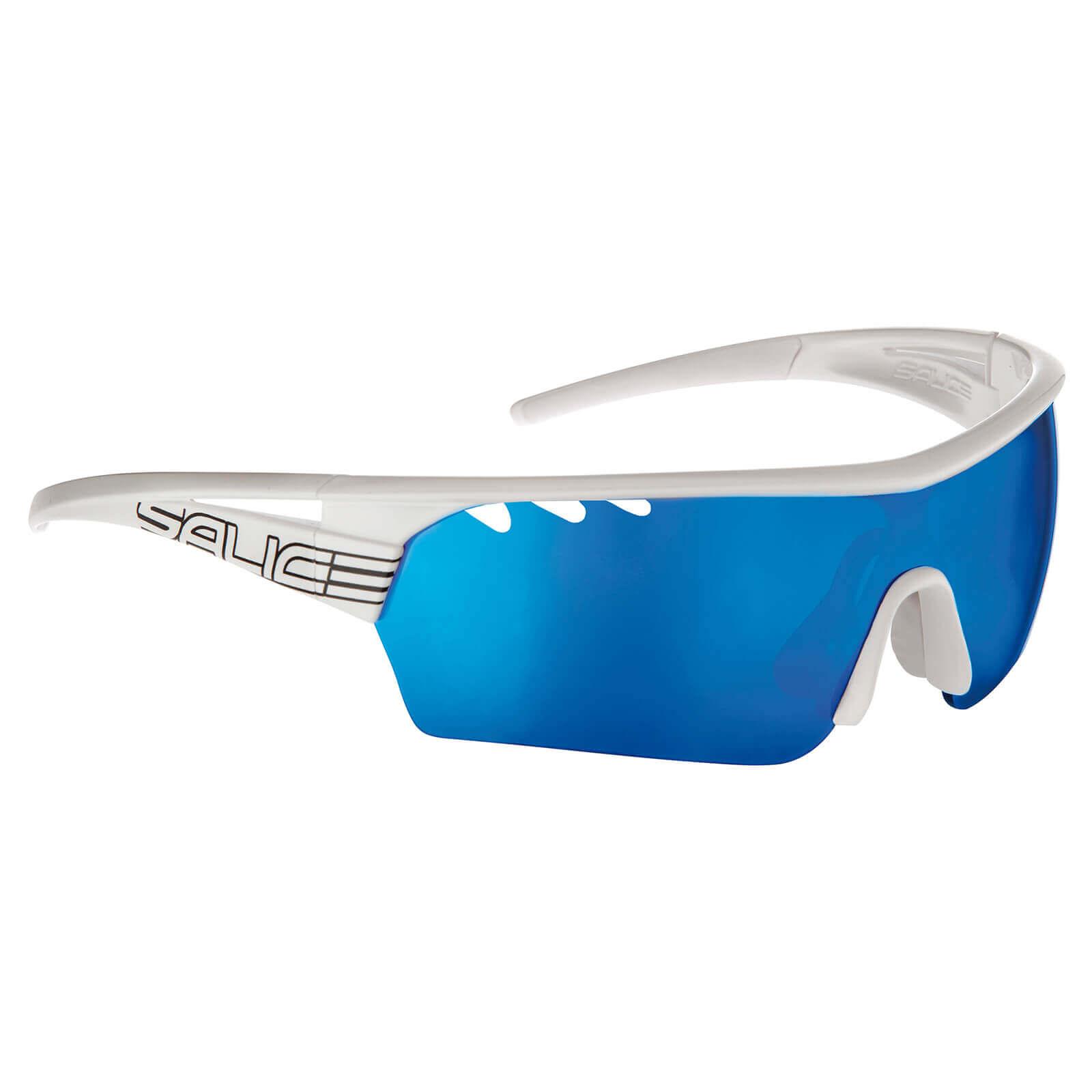 Salice 006 RW Mirror Sunglasses - White/Blue