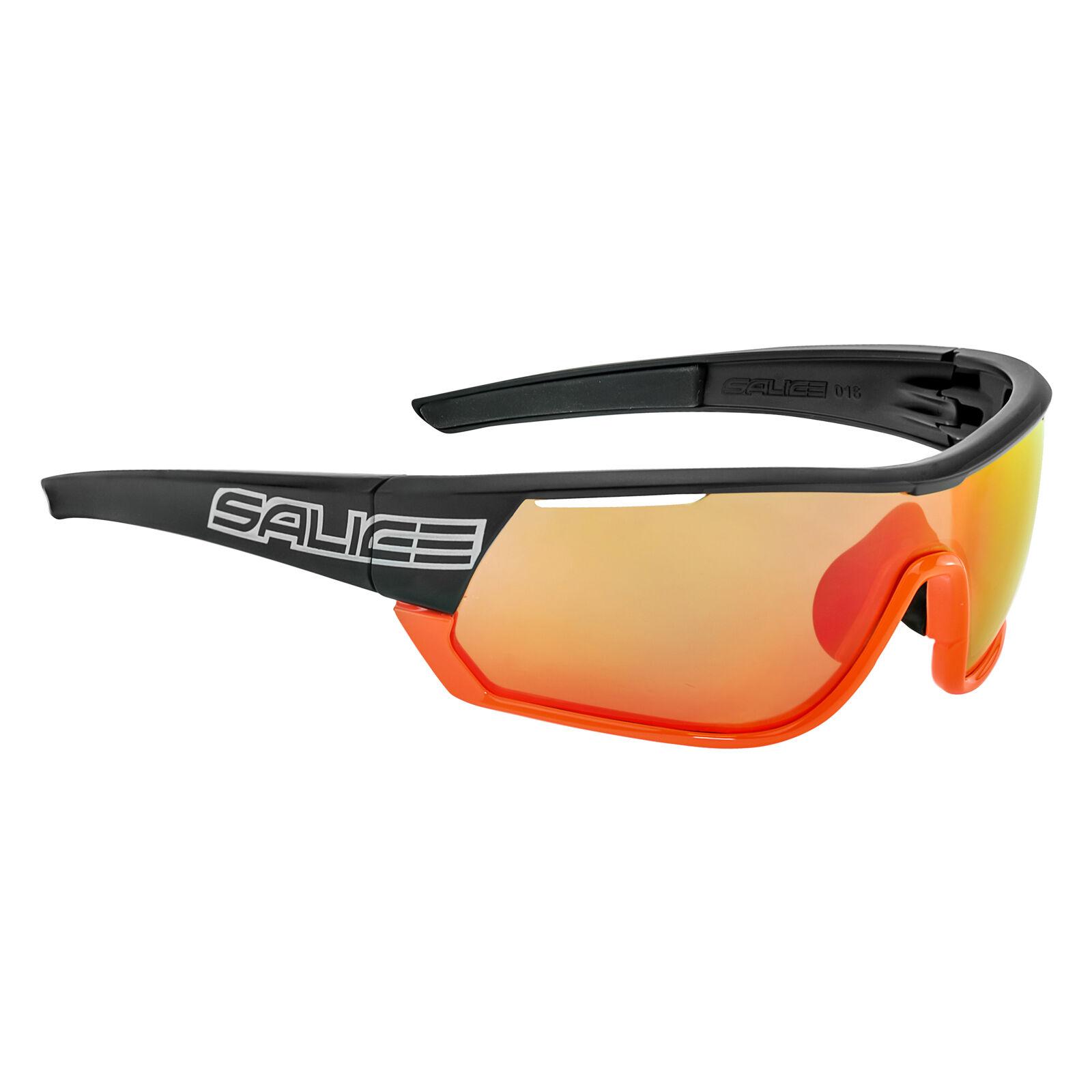 Salice 016 RW Mirror Sunglasses - Black/Orange/Red