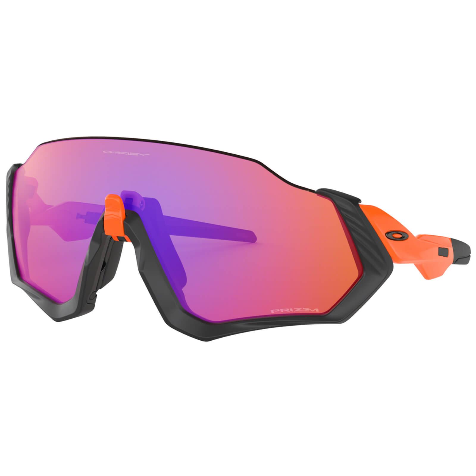 Oakley Flight Jacket Sunglasses - Neon Orange/Prizm Trail