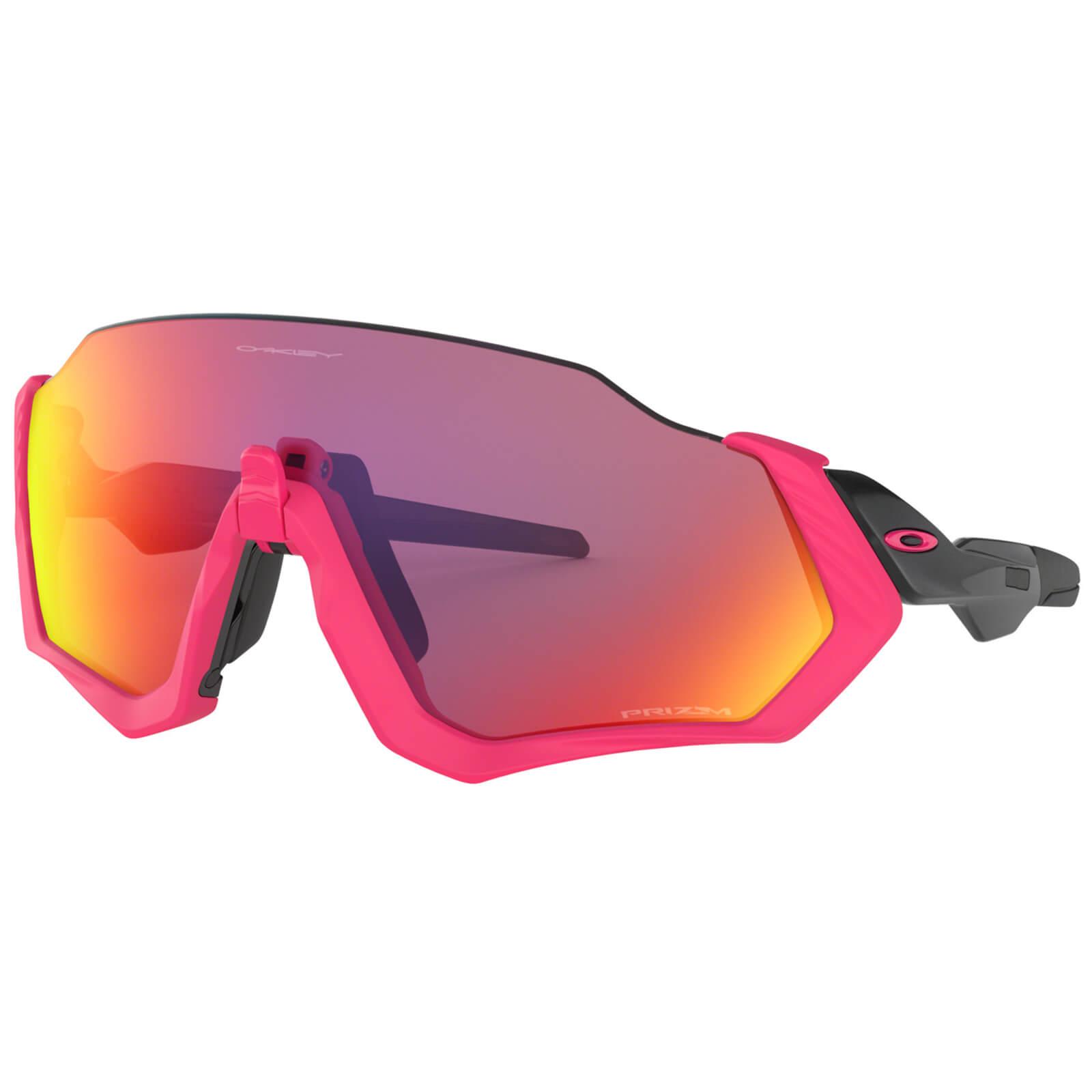 Oakley Flight Jacket Sunglasses - Neon Pink/Prizm Road