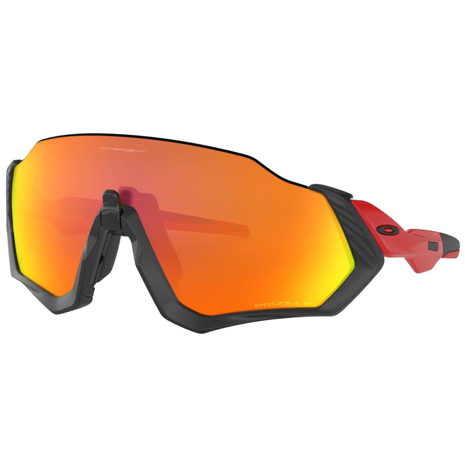 Oakley Flight Jacket Polarised Sunglasses - Redline/Prizm Ruby