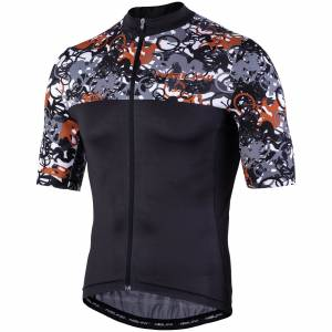 Nalini Centenario Short Sleeve Jersey - XXL - Black/Grey