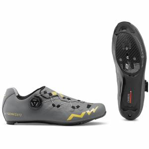 Northwave Extreme GT Road Shoes - Anthracite/Gold - EU 47/UK 12.5/US 13.5 - Grey/Gold