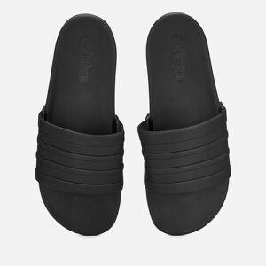 adidas Men's Adilette Comfort Slide Sandals - Core Black - UK 10 - Black