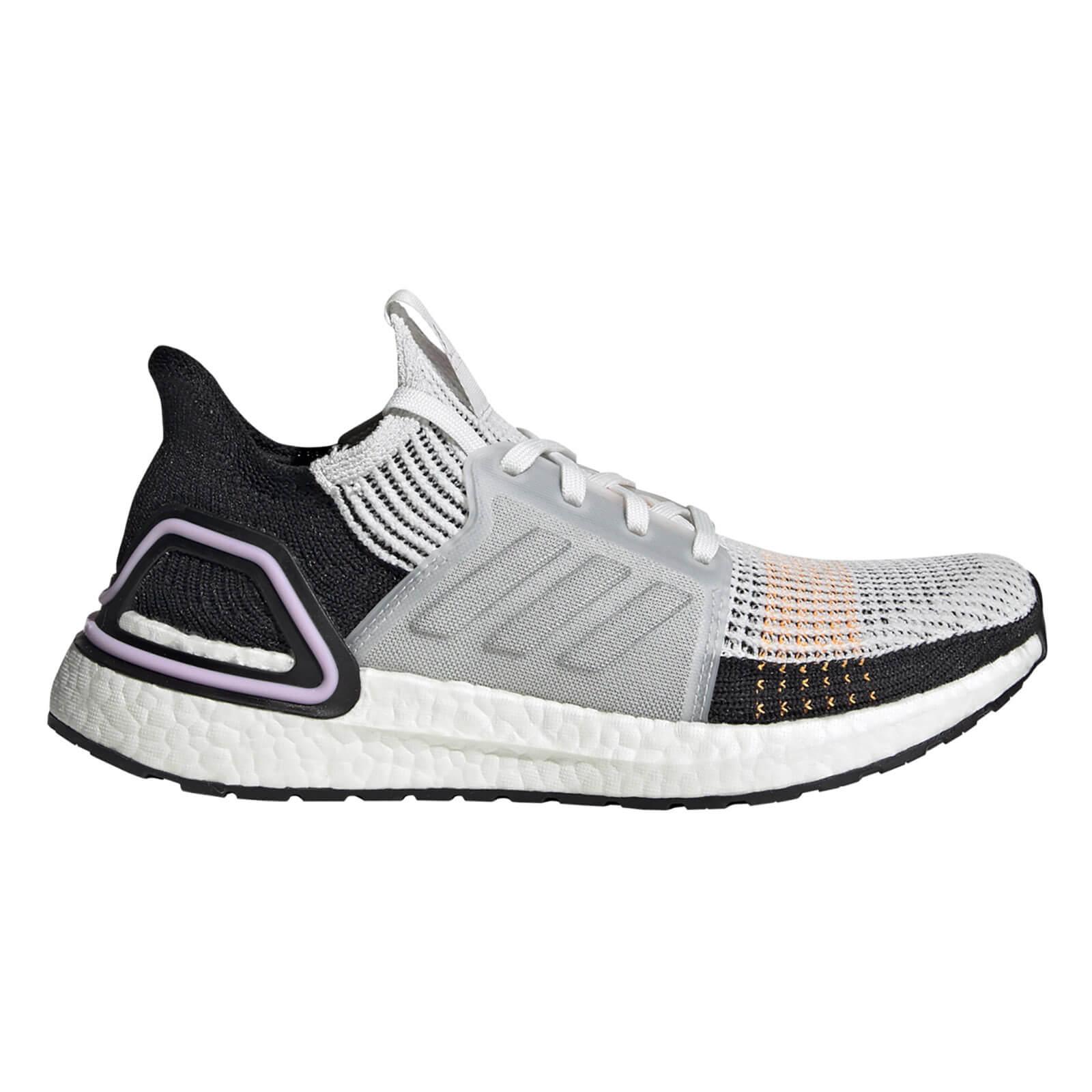 adidas Women's Ultraboost 19 Running Shoes - White/Black - 6