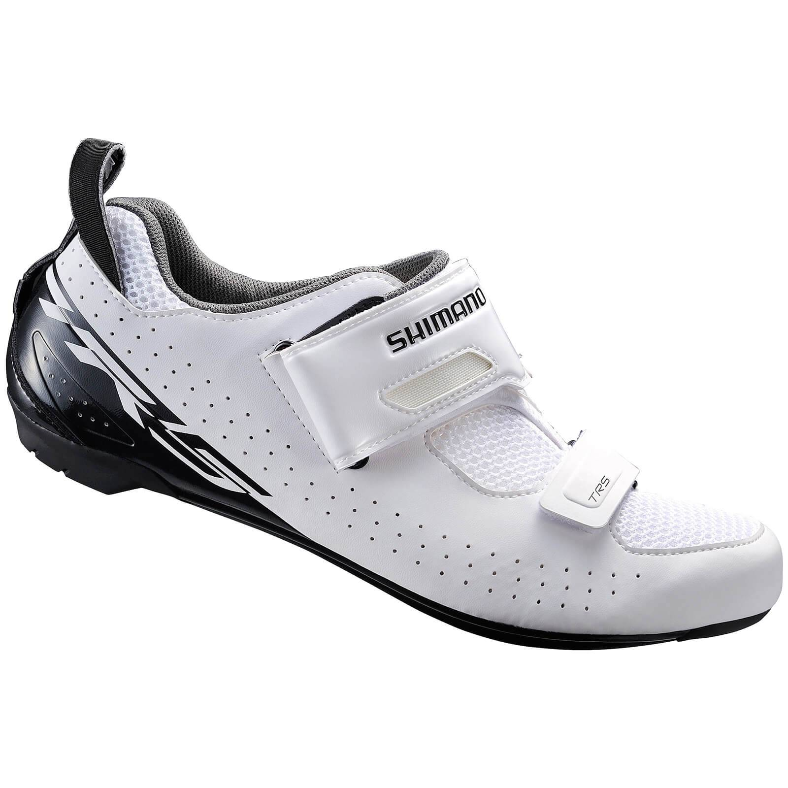 Shimano TR5 SPD-SL Triathlon Shoes - White - EU 47 - White