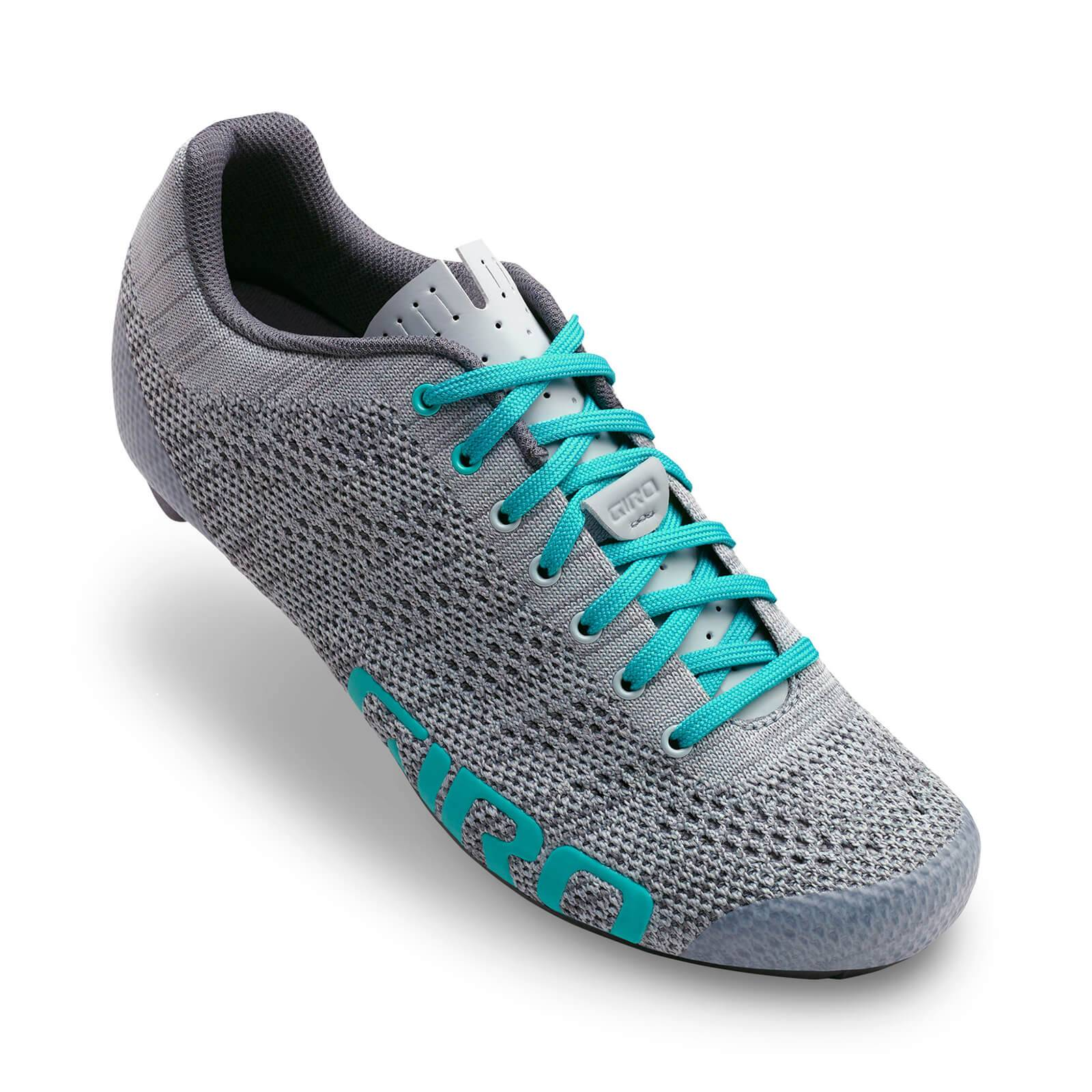 Giro Empire E70 Knit Women's Road Cycling Shoes - Grey/Glacier - EU 40/UK 6.5 - Grey
