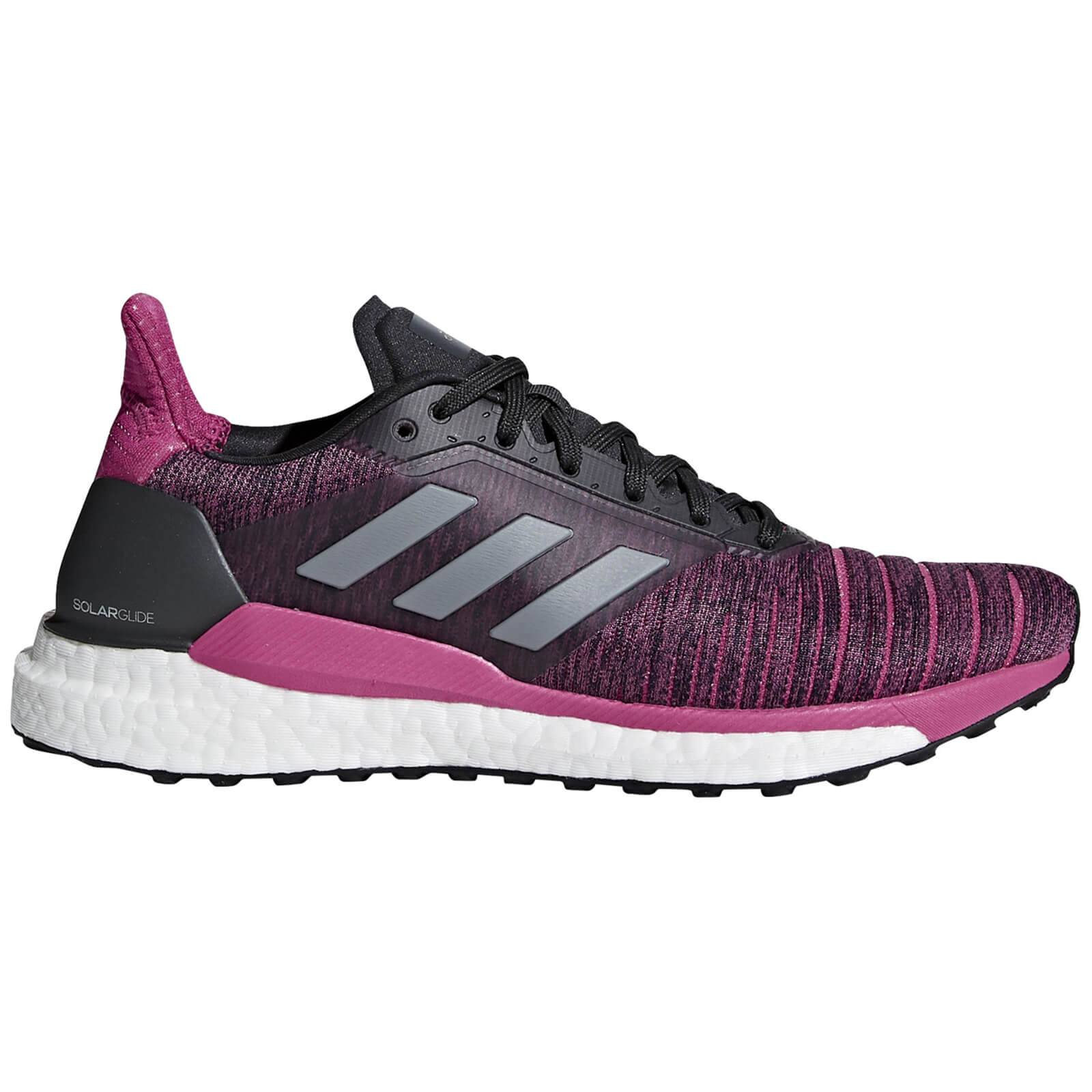 adidas Women's Solar Glide Running Shoes - Grey/Magenta - US 7.5/UK 6 - Grey/Pink