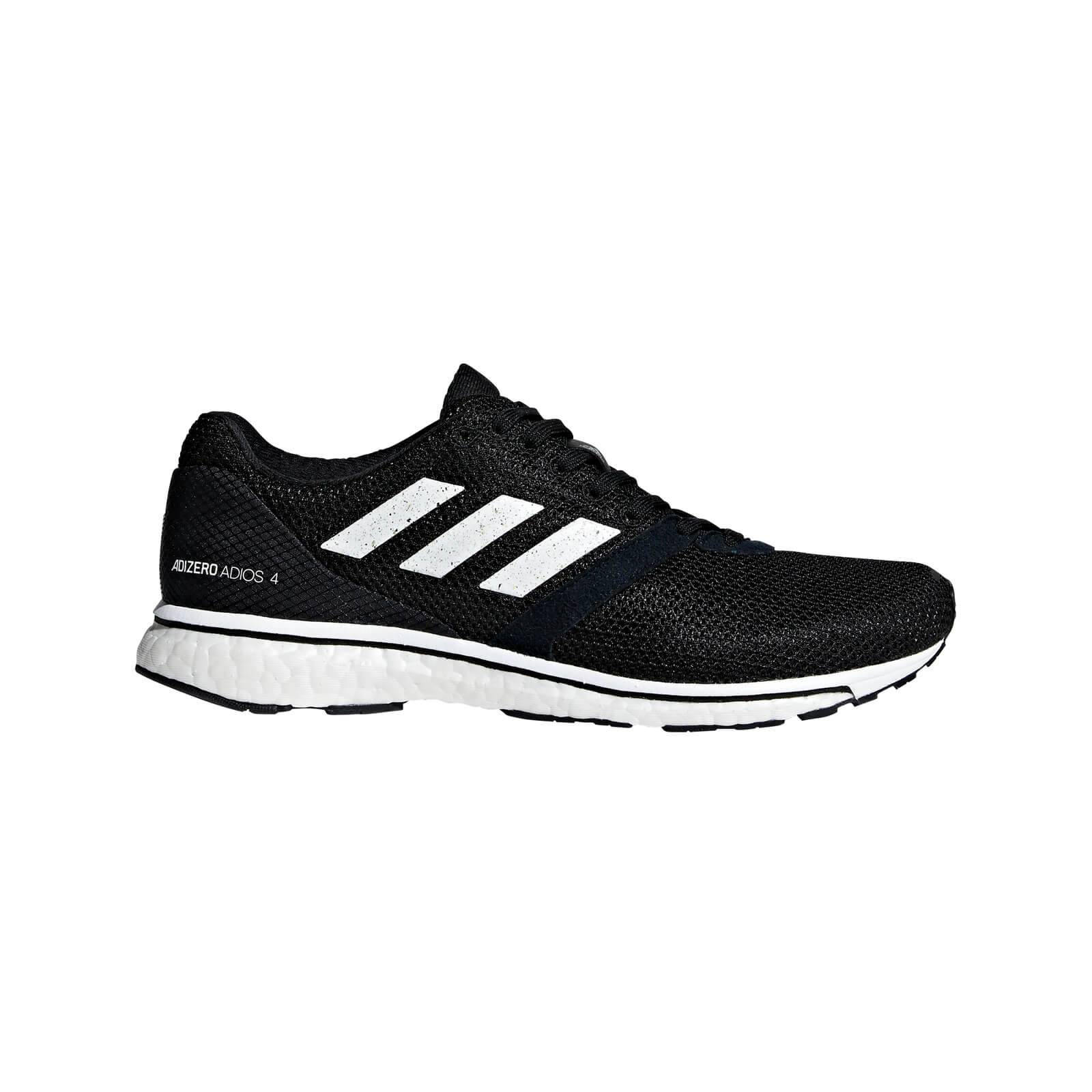 adidas Women's Adizero Adios 4 Running Shoes - Black/White - US 7.5/UK 6 - Black/White
