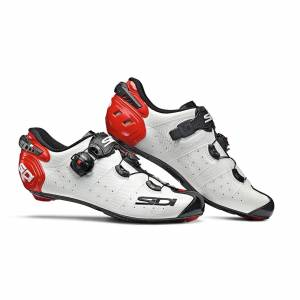 Sidi Wire 2 Carbon Road Shoes - White/Black/Red - EU 45 - White/Black/Red