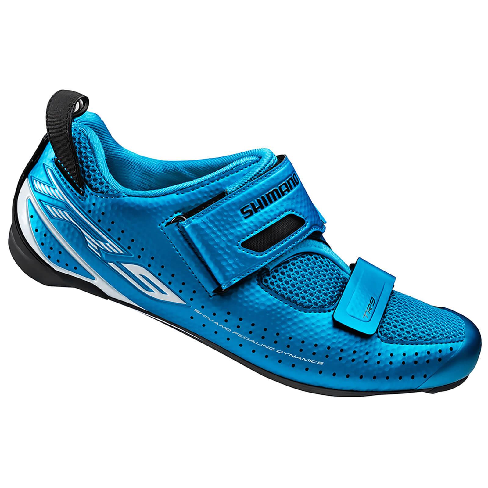 Shimano TR9 SPD-SL Cycling Shoes - Blue - EUR 46 - Blue
