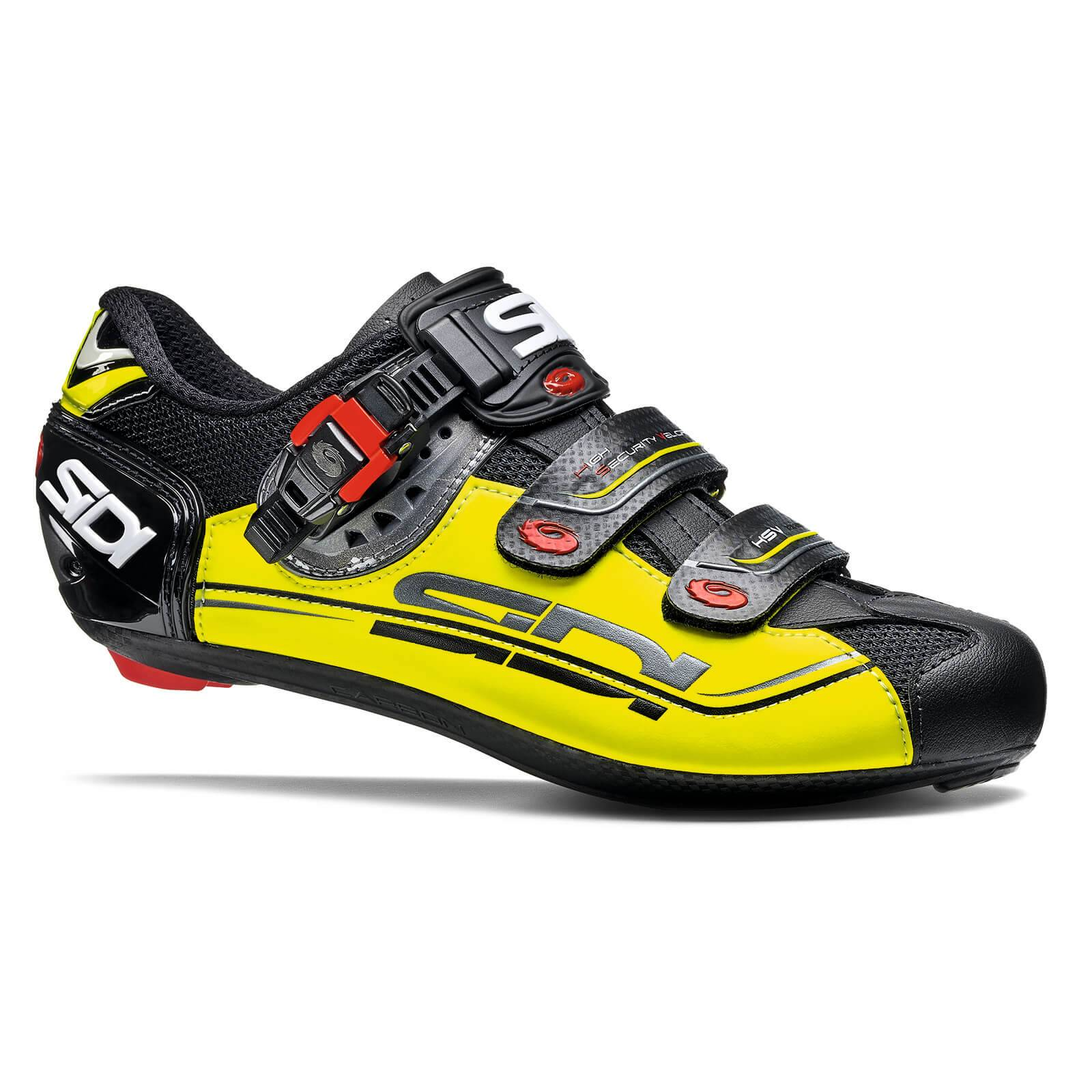 Sidi Genius 7 Mega Road Shoes - Black/Yellow Fluo/Black - EU 43 - Black/Yellow Fluo/Black
