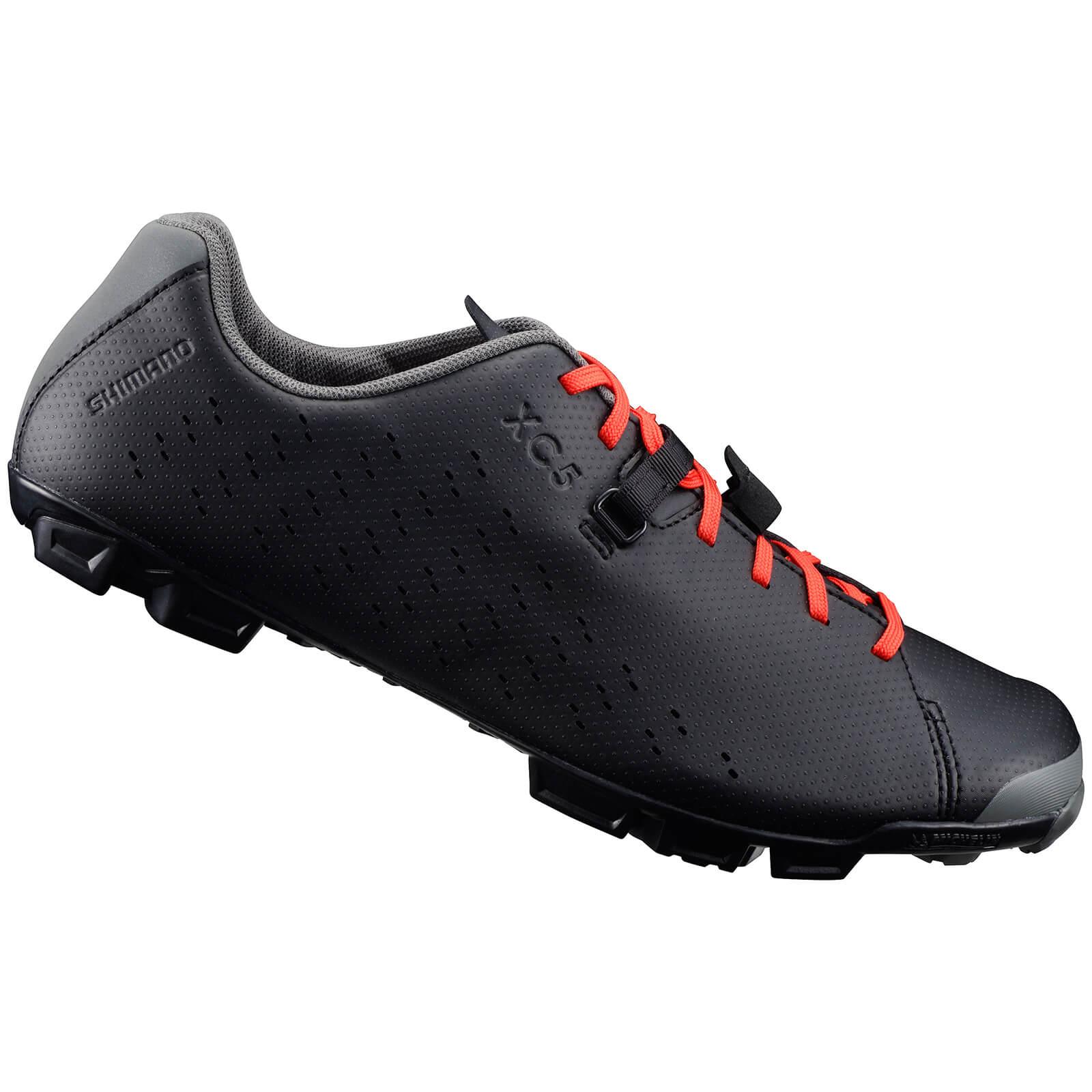 Shimano XC5 MTB Shoes - Grey/Orange - EU 48 - Black