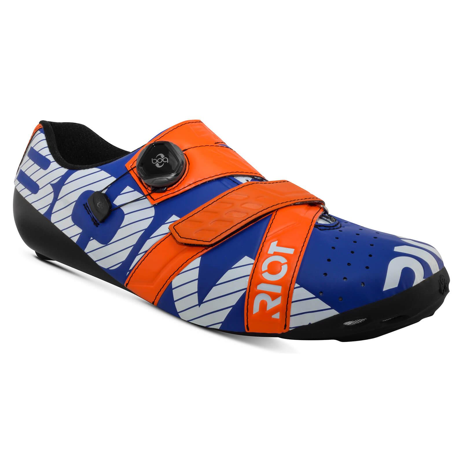 Bont Riot+ Road Shoes - EU 40 - Blue/Red
