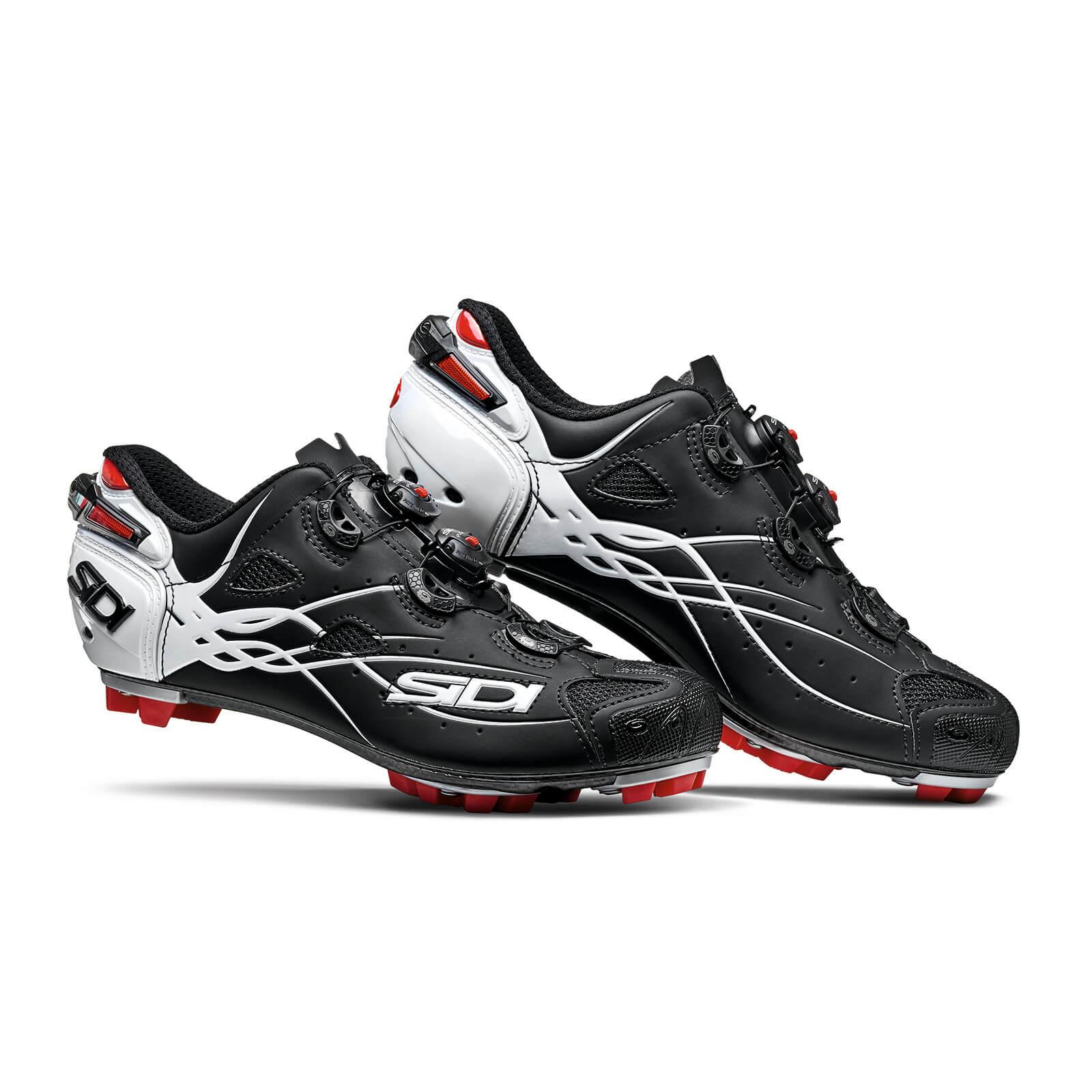 Sidi Tiger Carbon MTB Shoes - Matt Black/Gloss White - EU 44 - Matt Black/Gloss White