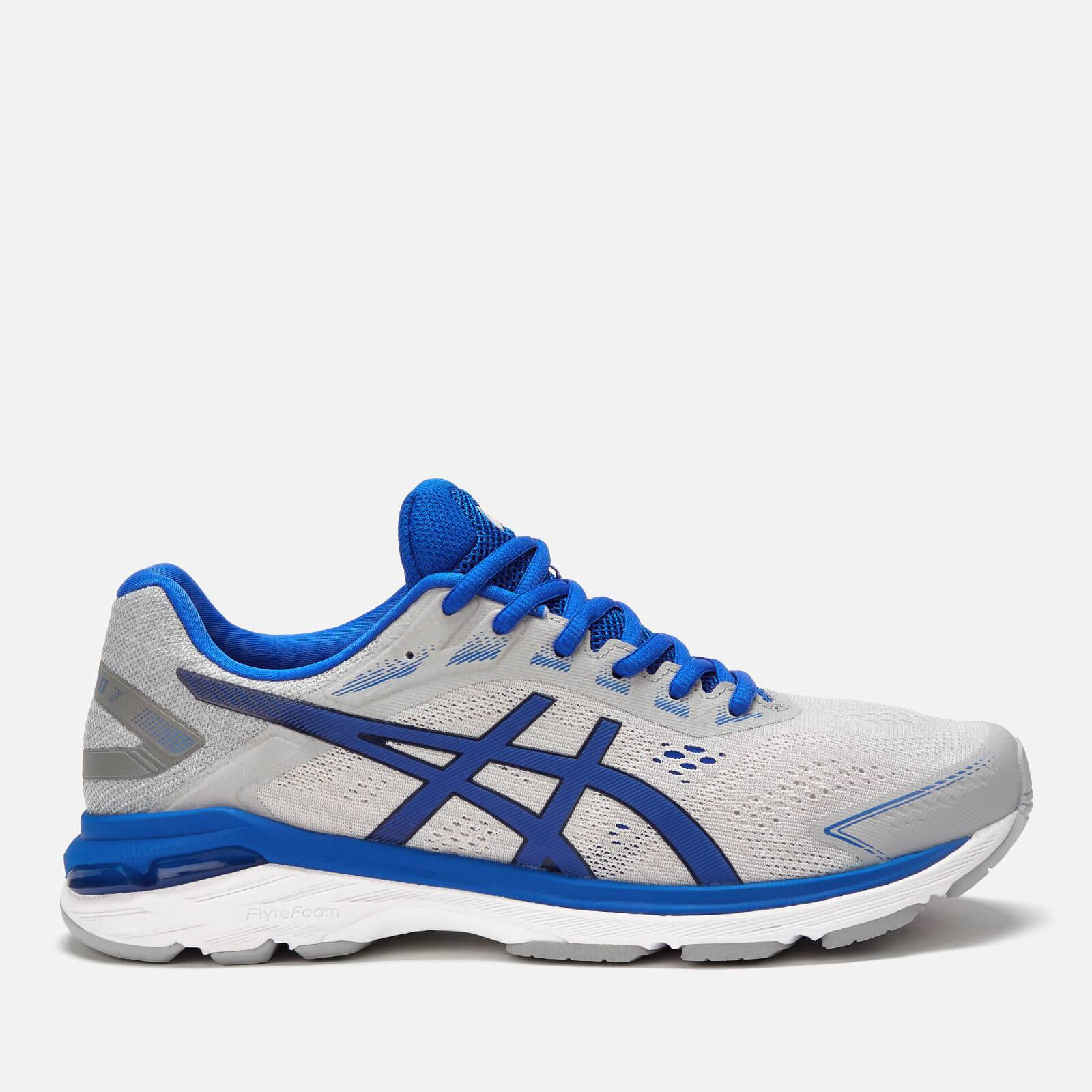 Asics Men's Running Gt-2000 7 Lite Show Trainers - Mid Grey/Illusion Blue - UK 8.5 - Grey