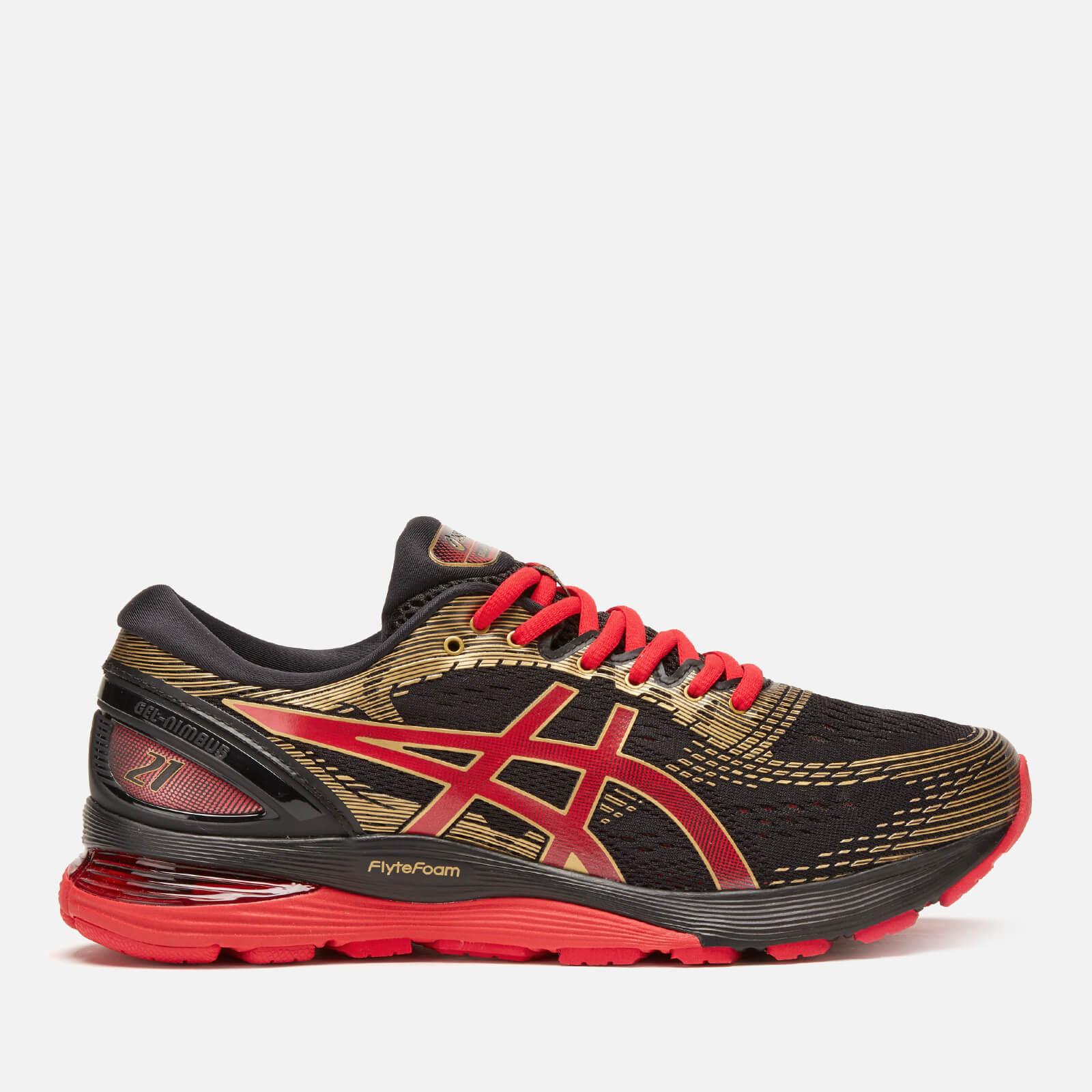 Asics Men's Running Gel-Nimbus 21 Trainers - Black/Classic Red - UK 10.5 - Black