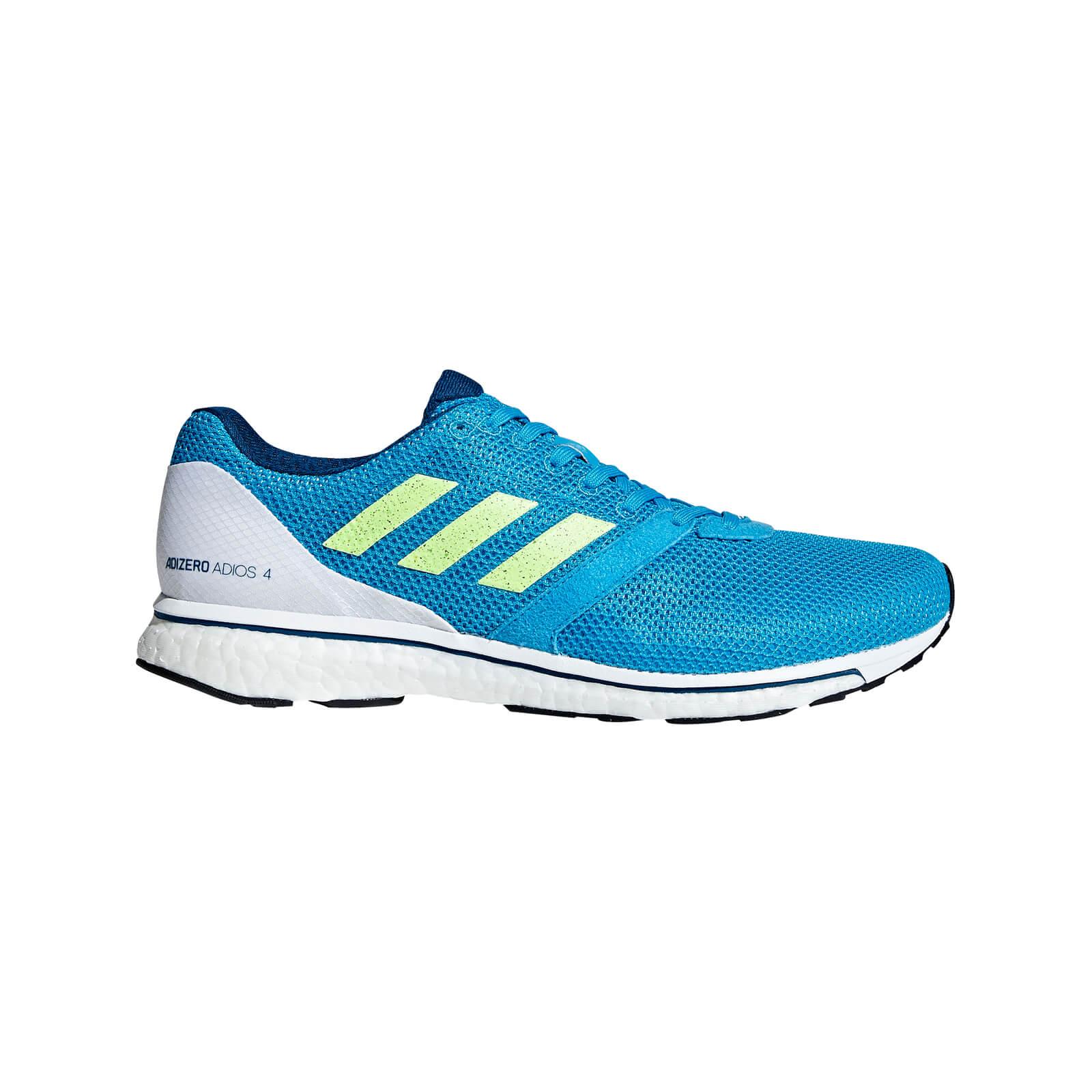 adidas Men's Adizero Adios 4 Running Shoes - Blue - US 11/UK 10.5 - Blue