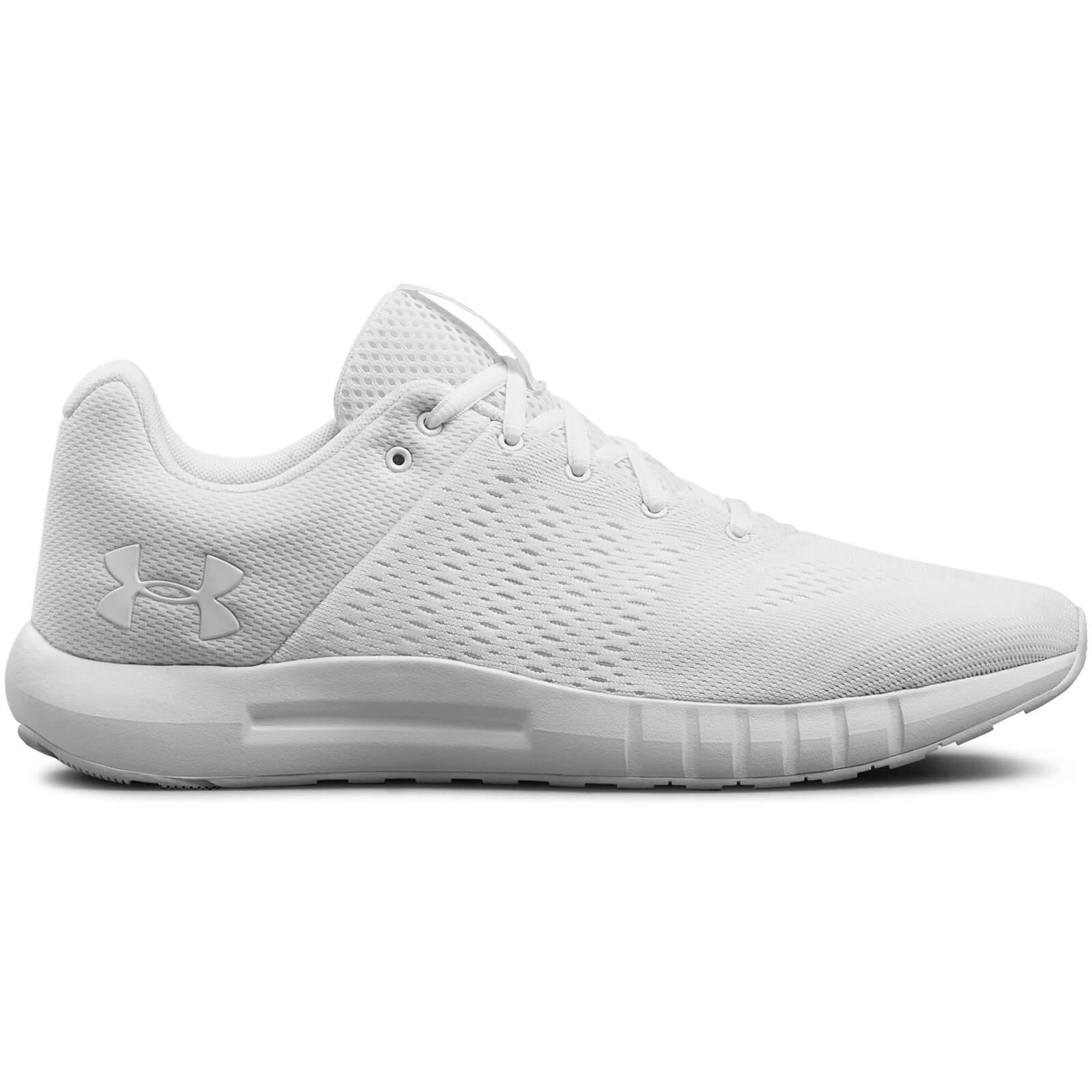 Under Armour Men's Micro G Pursuit Running Shoes - Grey/White - US 10/UK 9 - White