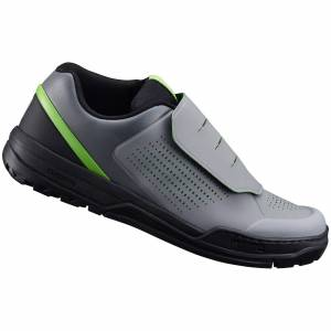 Shimano GR9 MTB Shoes - for Flat Pedals - Grey/Green - UK 9/EU 44 - Grey/Green