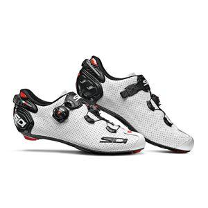 Sidi Wire 2 Carbon Air Road Shoes - White/Black - EU 47 - White/Black