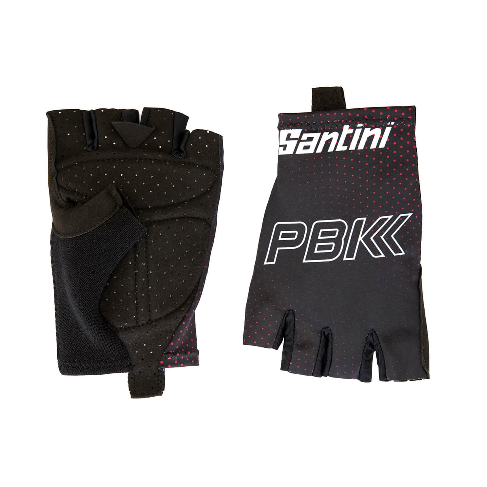 Santini PBK Santini 19 Race Gloves - Black/Red - XL