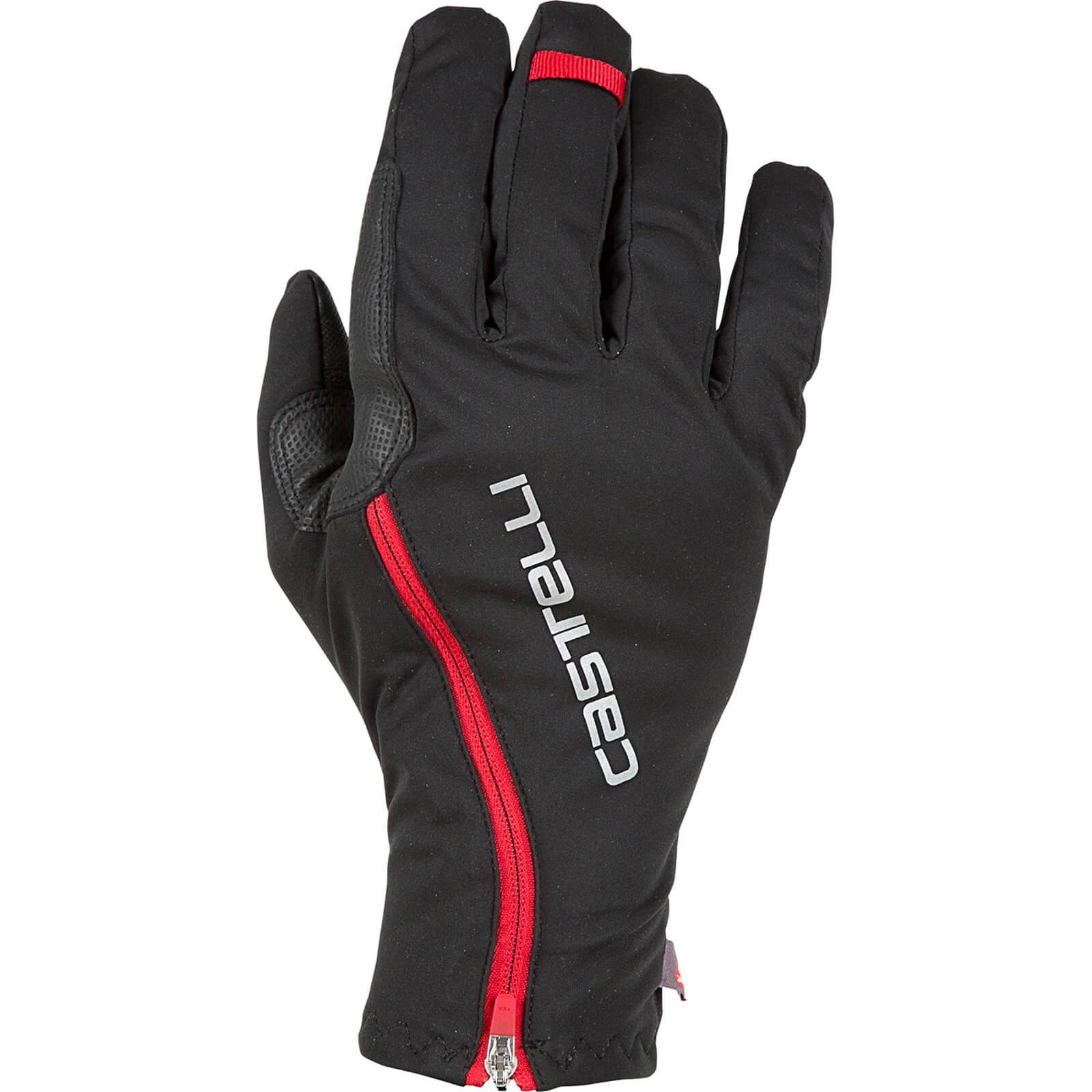 Castelli Spettacolo RoS Gloves - M - Black/Red