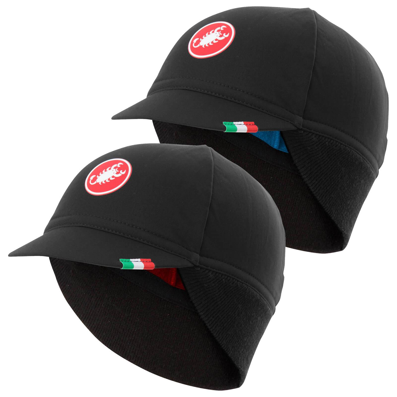 Castelli Difesa Thermal Cap - Black/Red