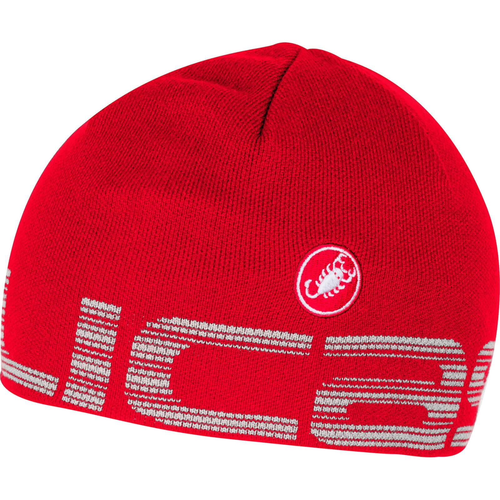 Castelli Liberta Beanie Hat - Red/White