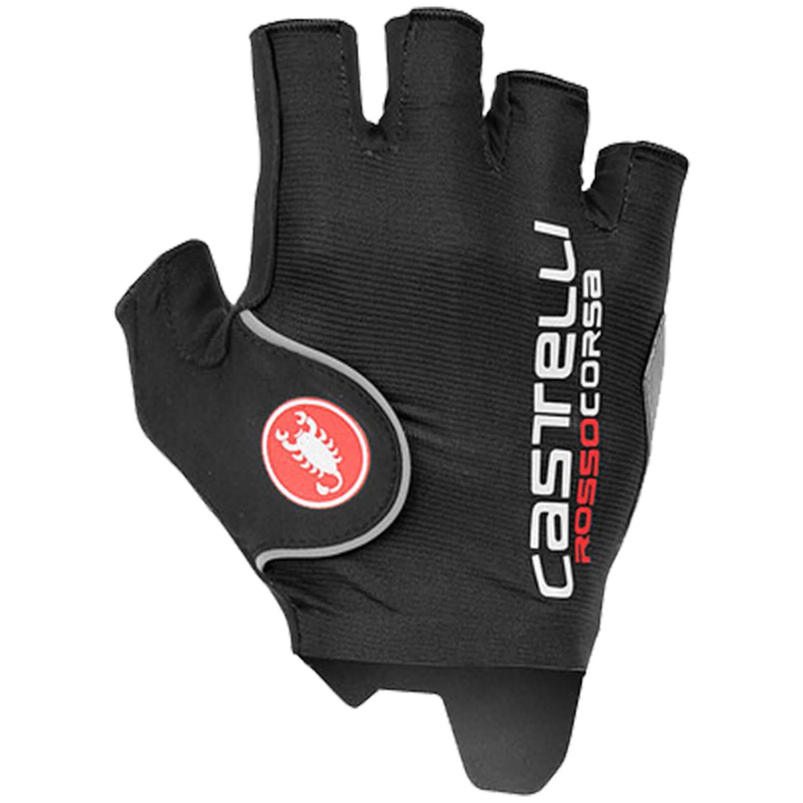 Castelli Rosso Corsa Pro Gloves - Black - S - Black