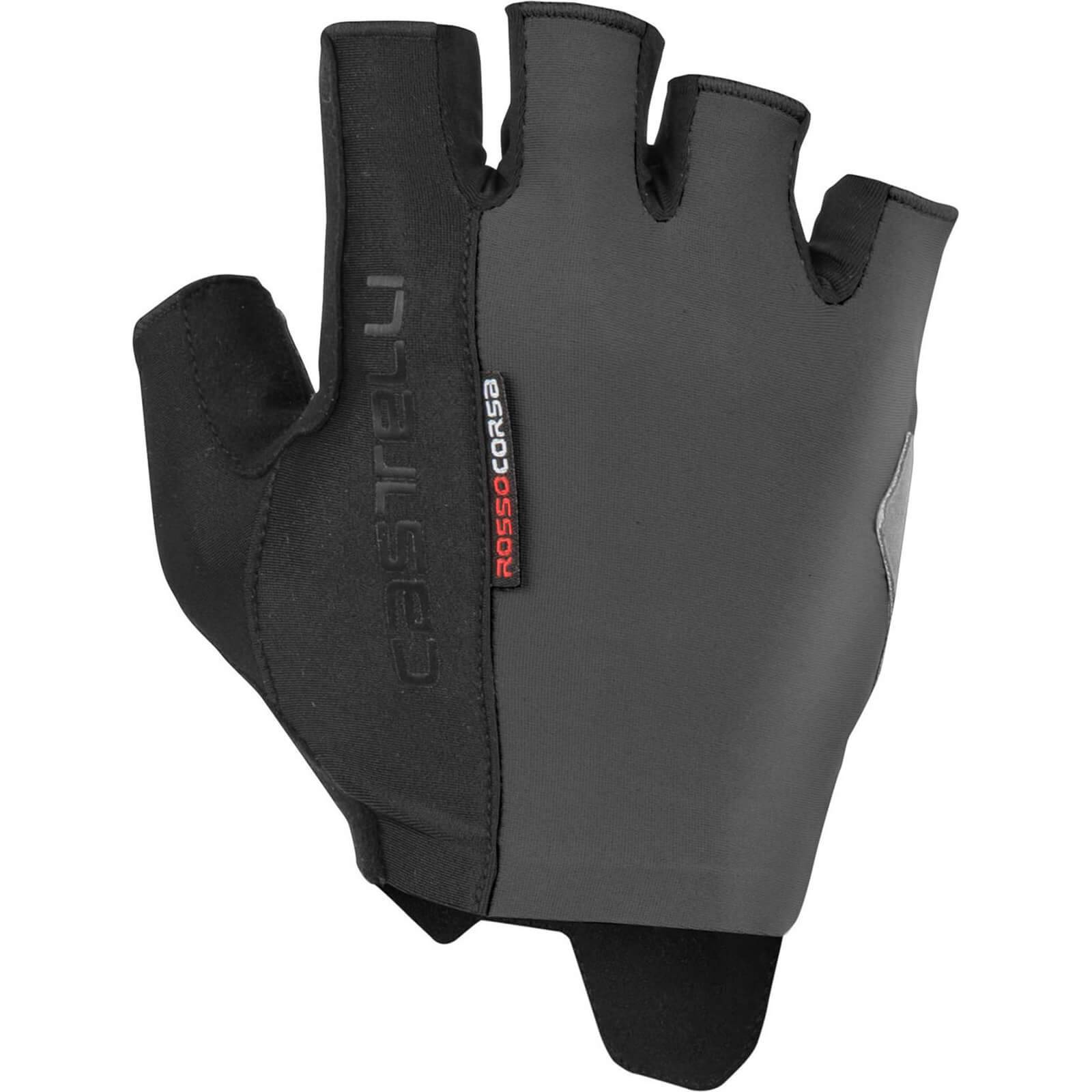 Castelli Rosso Corsa Espresso Gloves - XL - Dark Grey