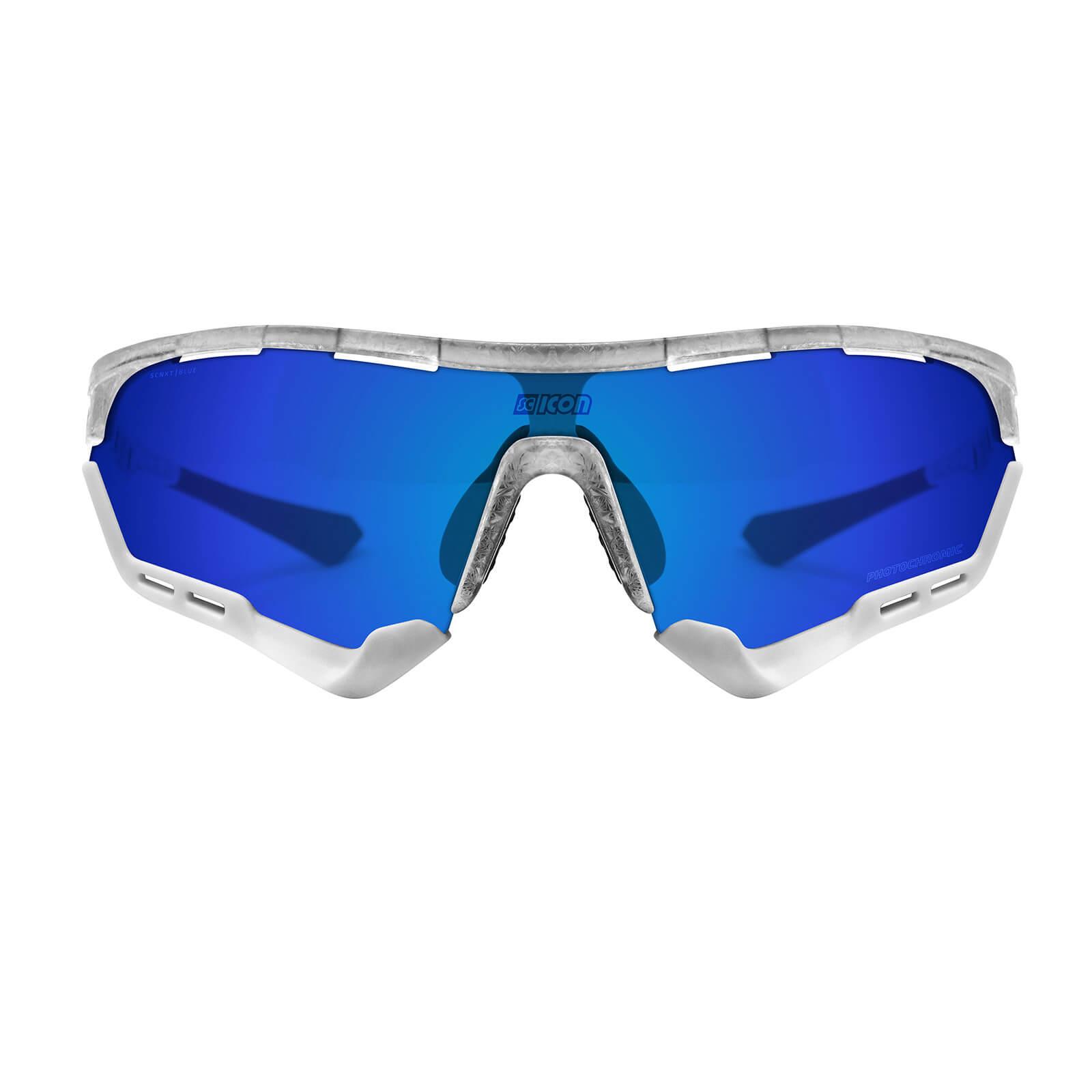 Scicon Aerotech Sunglasses SCN-XT Photochromic Blue Mirror Lens - Frozen Matt Frame - Standard Lens