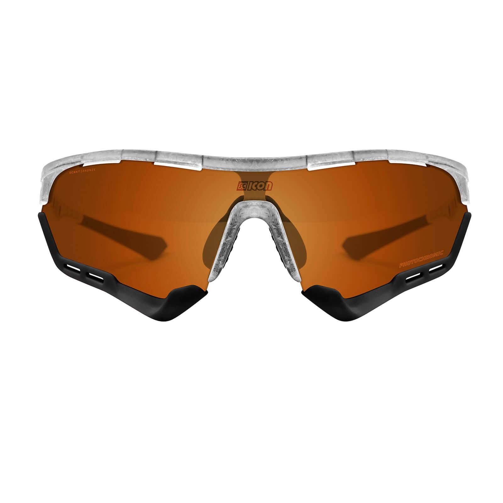 Scicon Aerotech Sunglasses SCN-XT Photochromic Bronze Mirror Lens - Frozen Matt Frame - XL Lens