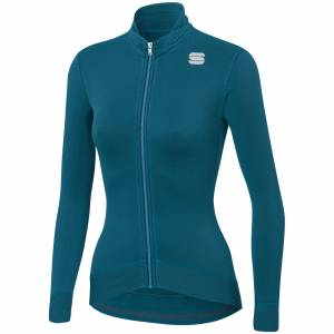 Sportful Women's Monocrom Thermal Jersey - M - Blue Corsair