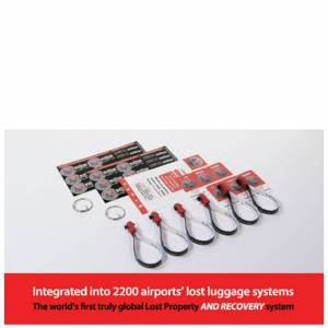 Homing Pin HomingPin Luggage Recovery Double Pack (Includes 6 Loops, 12 Large Stickers, 12 Small Stickers and 2 Keyring Adaptors)