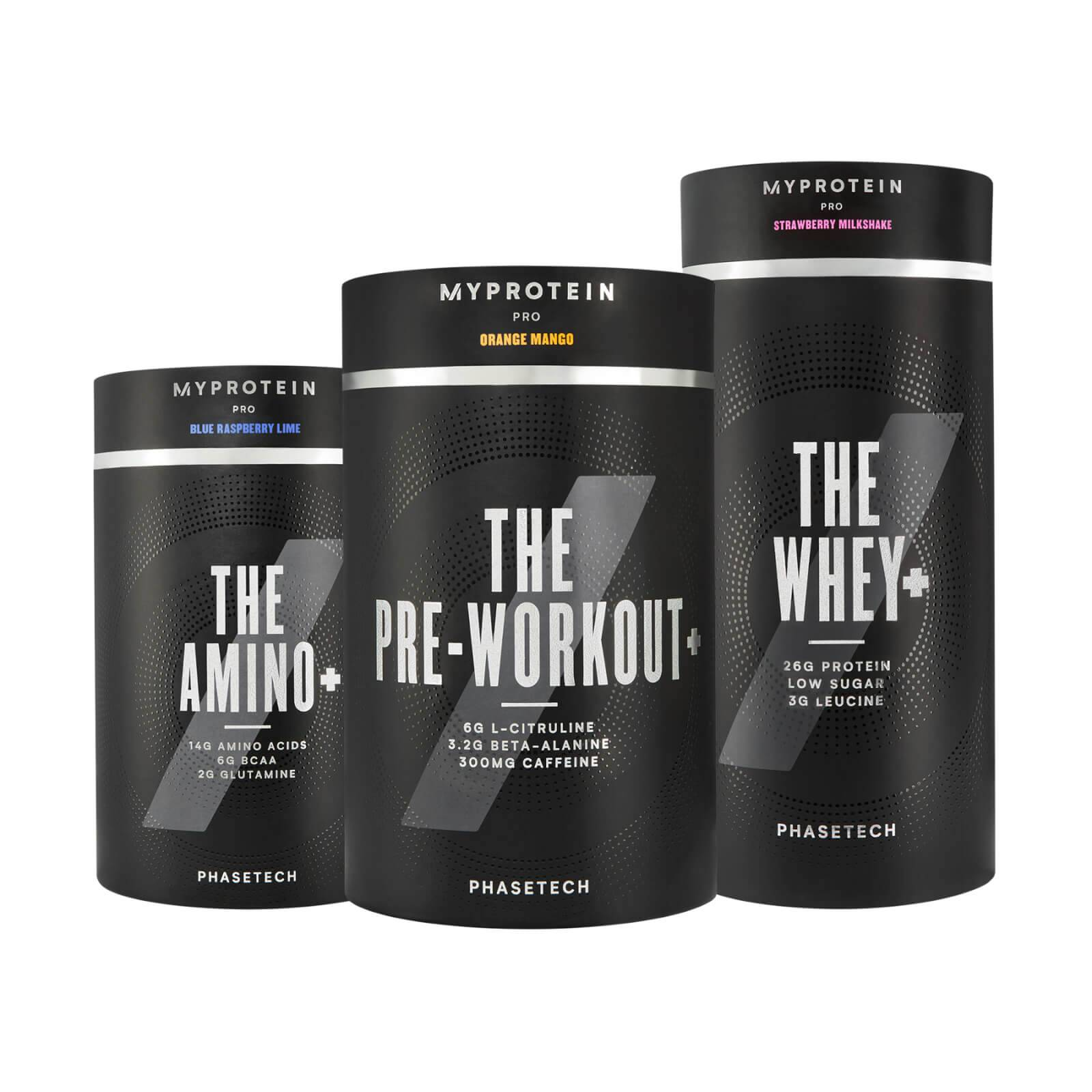 Myprotein PhaseTech™ Bundle - Tropical - Rainbow Candy - Chocolate Brownie