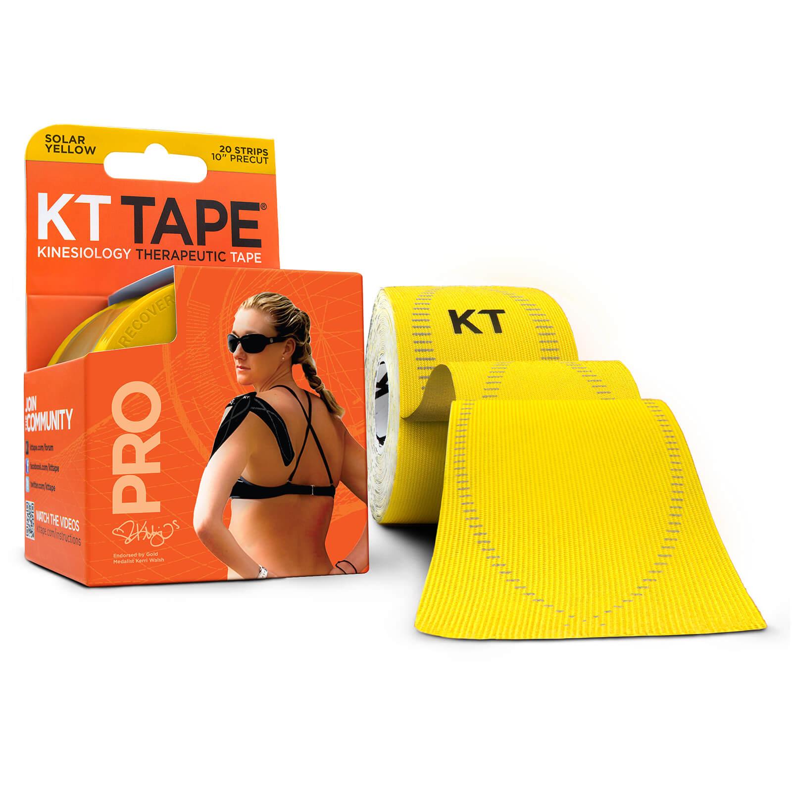 KT Tape Pro Synthetic Precut 10  - Solar Yellow