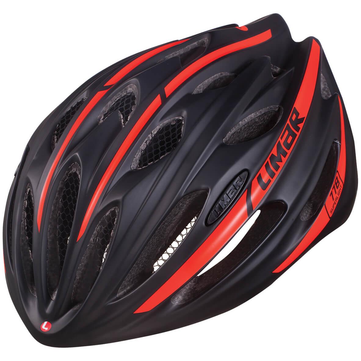 Limar 778 Superlight Road Helmet - M 52-57cm - Matt Black/Bright Red