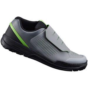 Shimano GR9 MTB Shoes - for Flat Pedals - Grey/Green - UK 6/EU 40 - Grey/Green