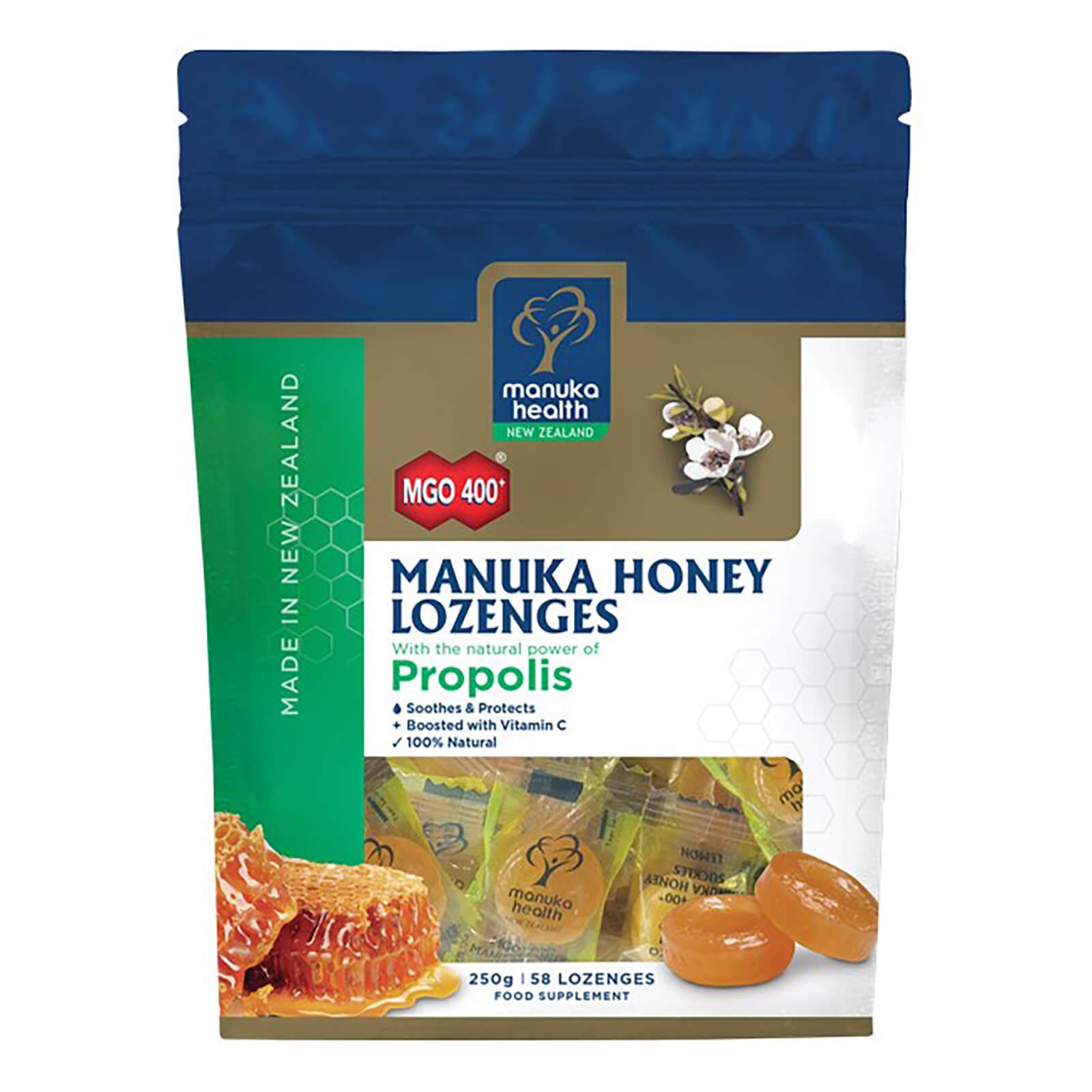 Manuka Health New Zealand Ltd MGO 400+ Manuka Honey Lozenges with Propolis - 58 Lozenges