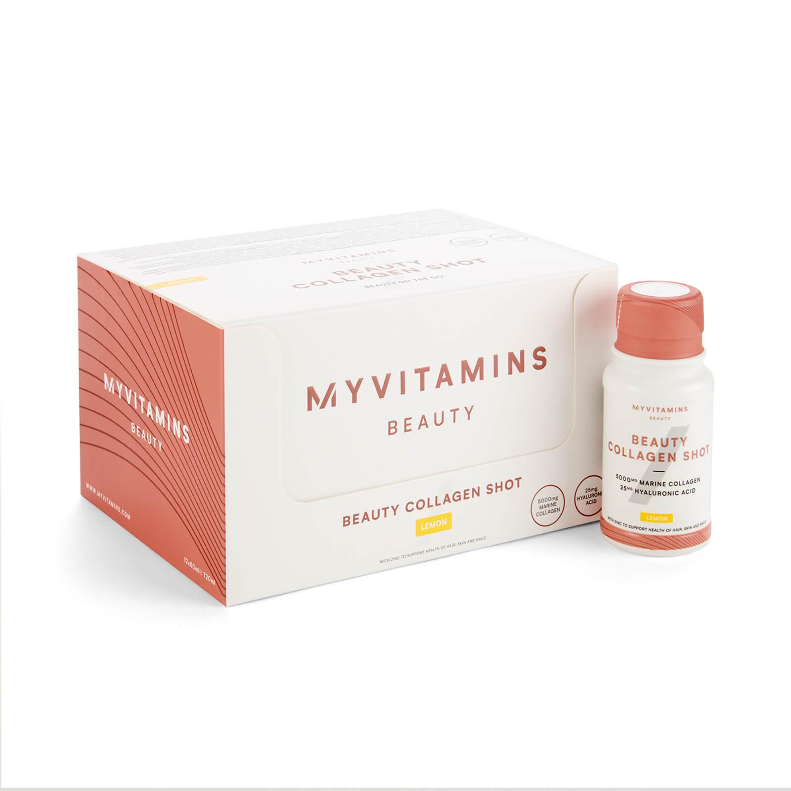 Myvitamins Beauty Collagen Shot  - 12 x 60ml - Lemon