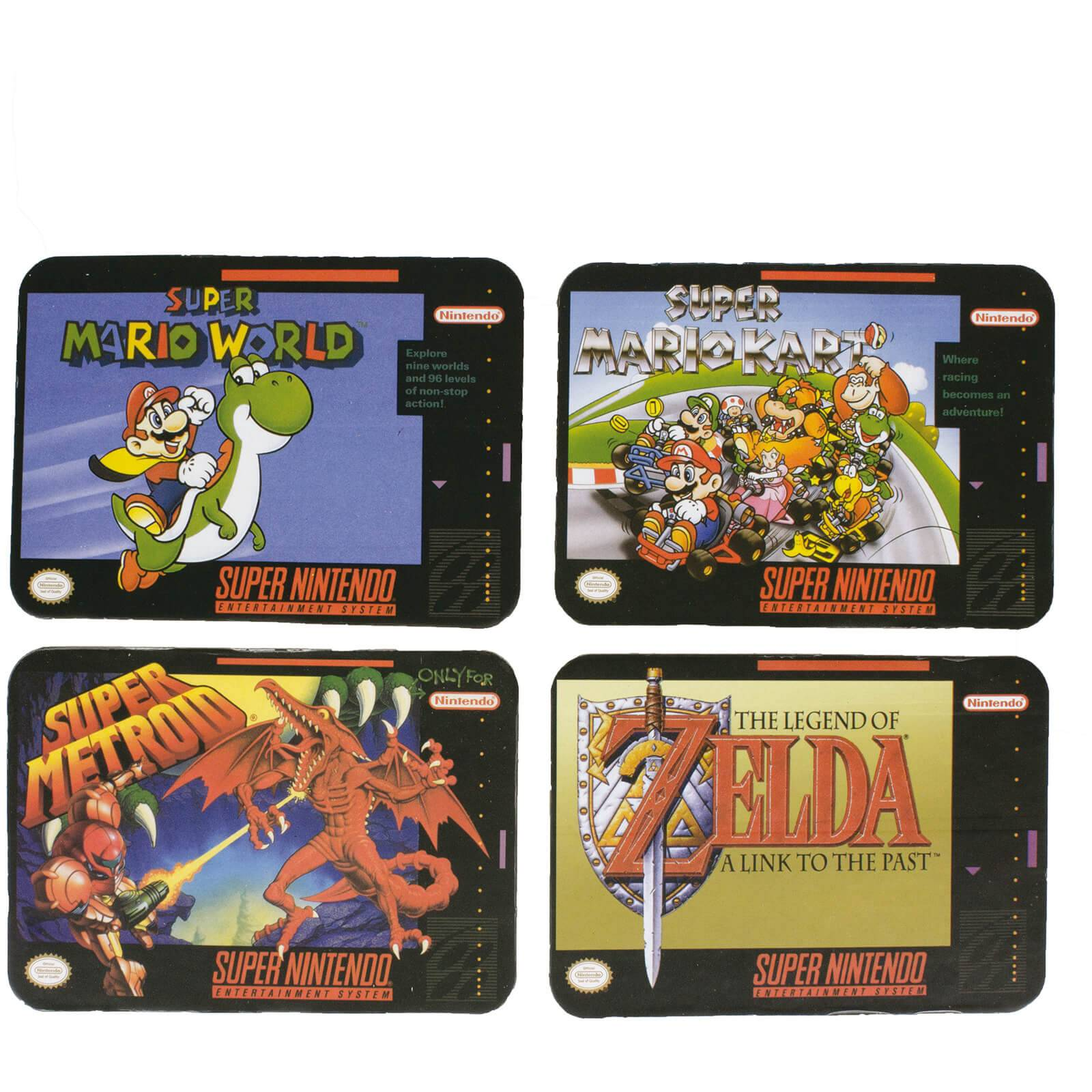 Paladone Super Nintendo Entertainment System Coasters (Set of 4)