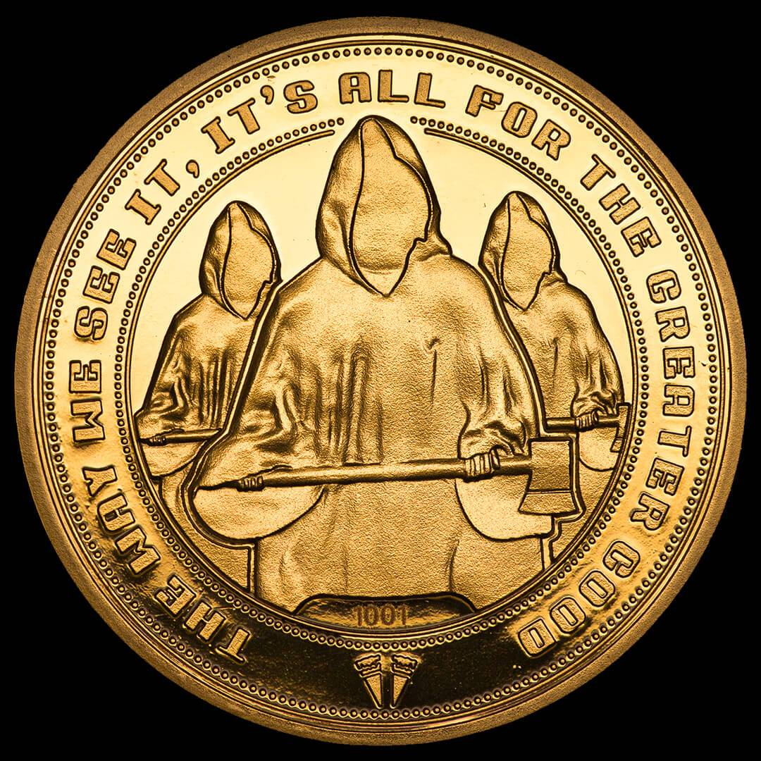 Iron Gut Publishing Hot Fuzz  For The Greater Good  Collectors Coin: Gold Variant - Zavvi Exclusive (Limited to 1000)