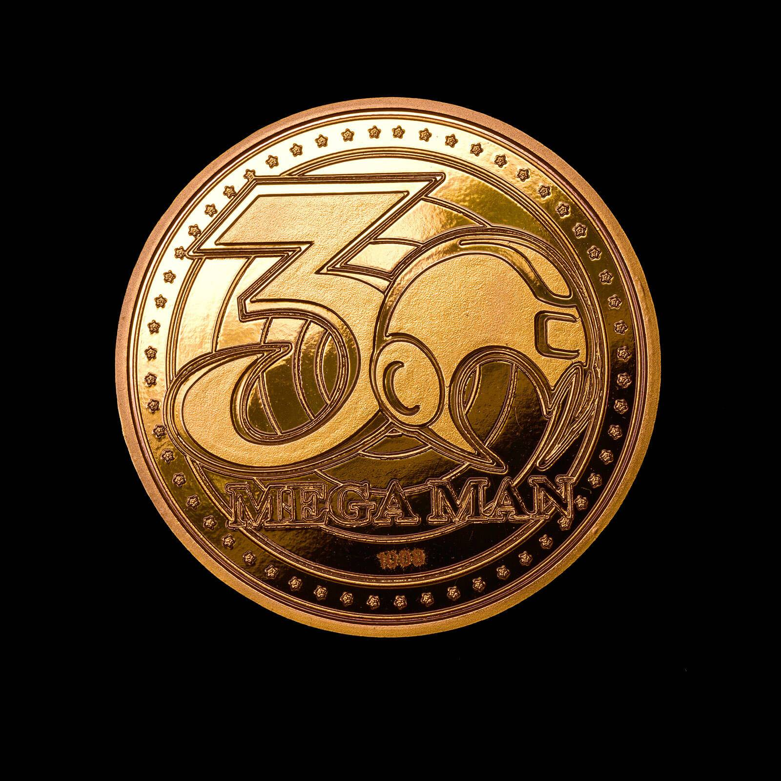 Iron Gut Publishing Mega Man Collectors Coin: Gold Variant - Zavvi Exclusive (Limited to 1000)