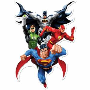 Star Cut Outs Justice League (JLA Heroes) Wall Art