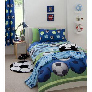 Catherine Lansfield Football Duvet Set - Blue - Double - Blue