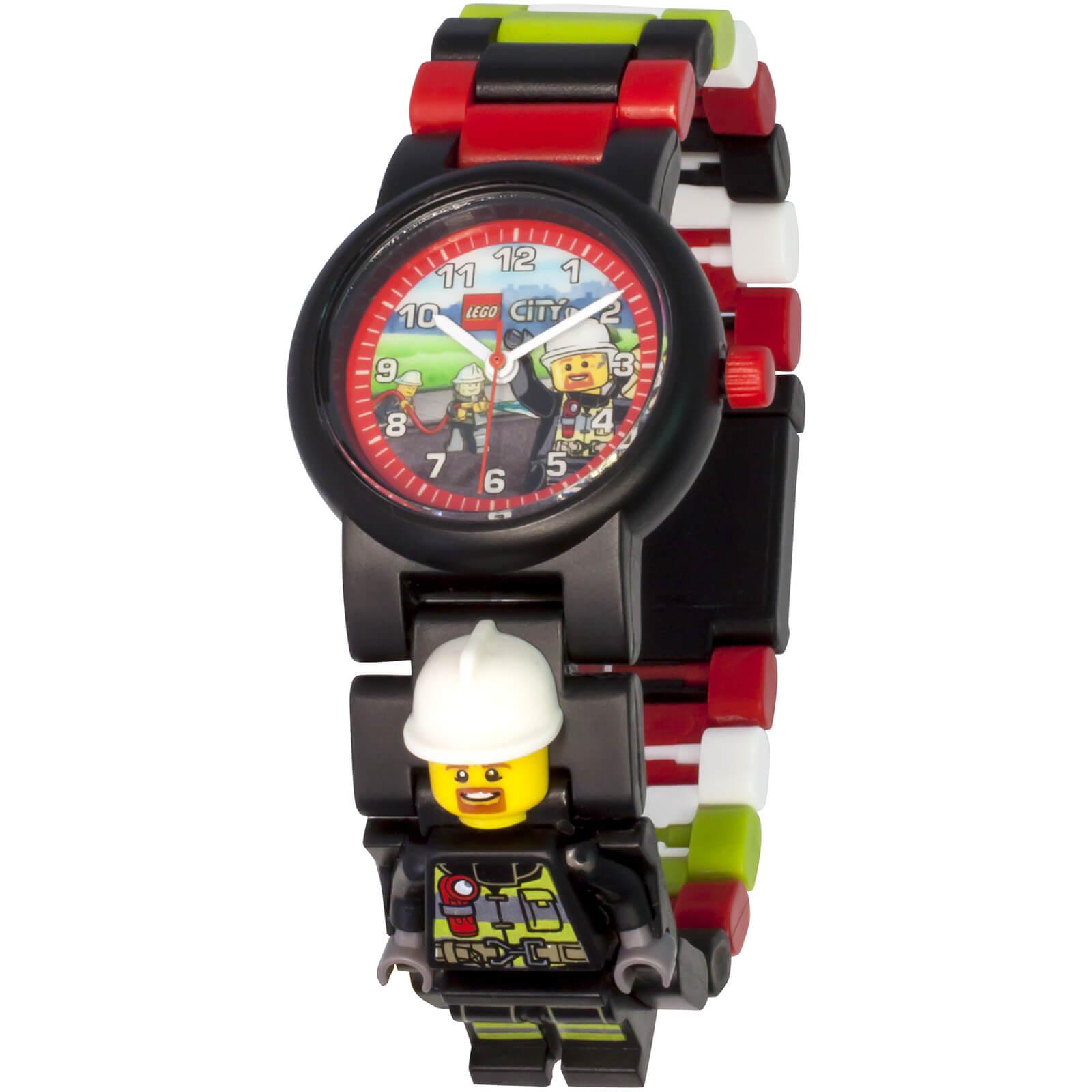 Lego City Fireman Minifigure Link Watch